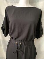Michael Kors Short Sleeve Black Jumpsuit Size XS NWT