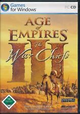 Age of Empires 3 III-The War Chiefs Addon para PC alemán con manual