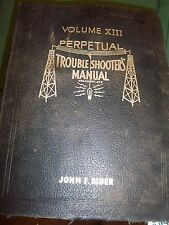1942 RIDER PERPETUAL RADIO TUBE~CHASSIS SERVICE~REPAIR MANUAL VOL XIII~SCHEMATIC