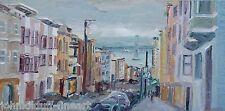 Jackson Street Plein Air Impressionism Landscape John Kilduff Oil 15x30