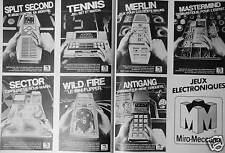 PUBLICITÉ 1981 JEUX ELECTRONIQUES MIRO MECCANO SPLIT SECOND SECTOR - ADVERTISING