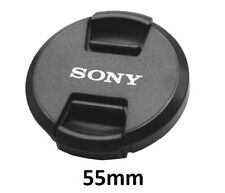 Sony 55mm Snap-On Lens Cap + Rope / Front Lens Cap / Black New Free Ship