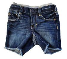 Baby Gap Jungen Shorts Dunkel Jeans Kleinkind Baumwolle Neu Vintage Effekt 0-24