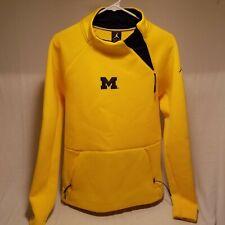 Nike Jumpman Jordan MICHIGAN Yellow/Maze Pullover Sweatshirt Small