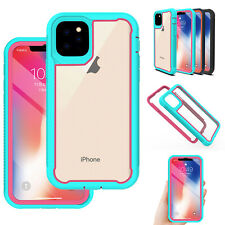 For iPhone 11 Pro Max 2019 Rugged Armor Case Hybrid Bumper Frame Clear Cover