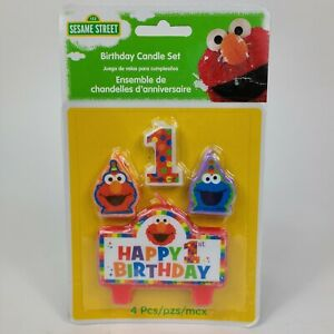 Elmo 1st Birthday Mini Candles Party Supplies Cake Decoration Sesame Street