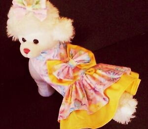DOG DRESS/HARNESS  BUTTERFLY with MATCHING HAIR BOW NEW  FREE SHIPPING