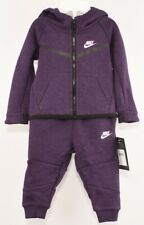 NIKE Baby Girls' 2pc Jacket & Joggers Tracksuit Outfit, Night Purple 9-12 months