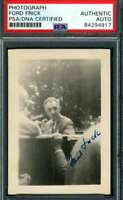 Ford Frick PSA DNA Coa Hand Signed Vintage Original 1950`s Photo Autograph