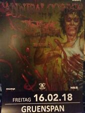 Cannibal Corpse Tourposter  2018 Plakat A1