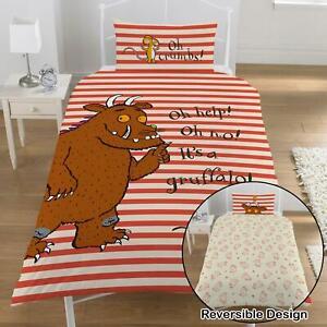 Gruffalo Oh Help Single Duvet Cover Set 100% Cotton Children's Orange Reversible