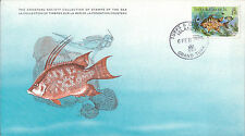 Set 3 Maxicard Cousteau Turks & Caicos Is. (British) 1979 Hog Pork Fish SEA