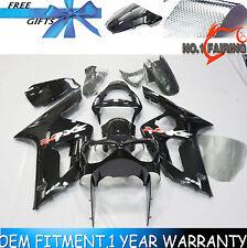 Injection Bodywork Fairing Kit Black for Kawasaki Ninja ZX6R 2003 2004 ZX636C