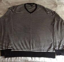 Black White Stripe H&M Jumper Large