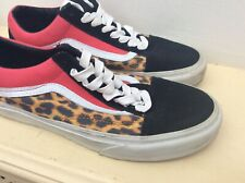 Womens vans old skool Off The Wall Trainers Size UK 6 Leopard Print Black & Pink