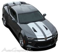 2016-2018 Camaro SS RS Rally Vinyl Graphic Hood Decals 3M Pro Racing Stripes