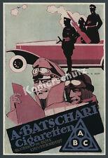or. Reklame Batschari Erdt Luftwaffe Auto-Flak Zigaretten Tabak Baden-Baden 1916