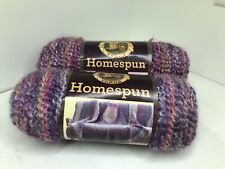 New listing 2 Skeins - New Lion Brand Homespun - Color: Mixed Berries 411