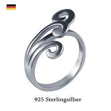 Echte Edelmetall-Ringe ohne Steine im Statement-Stil aus Sterlingsilber für Damen