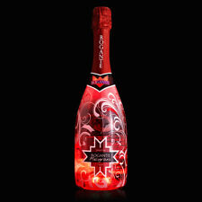 "Spumante ROGANTE in bottiglia luminosa da 75 cl ""Melogtrano-Sparkling Fruits"""