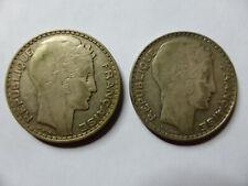 Lot 2 pièces en Argent 20 Fr Français de 1933 - très bel état - photos