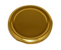 Lot de 20 Couvercles de Rechange pour Fermeture Bocaux 82mm, D'or