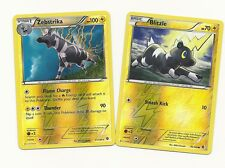 RARE ZEBSTRIKA & BLITZLE -2 EVO BOUNDARIES CROSSED Pokemon Card REV HOLO- MINT