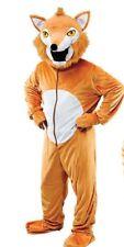 Deluxe Adult Fancy Dress Costume Big Head FOX Farm Animal Mascot Character
