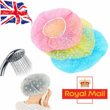 Waterproof Elastic Shower Cap Hat Reusable Bath Head Hair Cover Salon Shower Cap