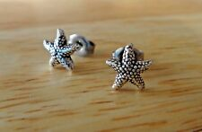 Sterling Silver TINY 8mm Starfish Star Fish Studs Earrings!