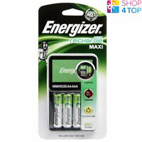 ENERGIZER RECHARGE MAXI CHARGER FOR AAA AA BATTERIES & 4 AA 1300mAh BATTERIES