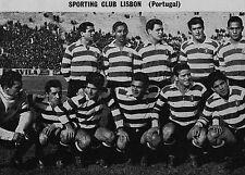 SPORTING LISBON FOOTBALL TEAM PHOTO 1959-60 SEASON