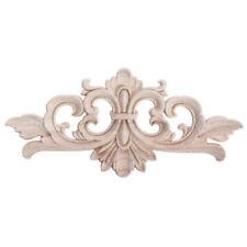 1X Wooden Carved Applique Furniture Mouldings Decal DIY Corner Onlay Decoration