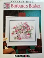 Dimensions Cross Stitch Pattern BARBARA'S BASKET Romantic Floral Flowers 35175
