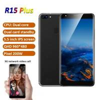 5.5'' Face Unlocked SmartPhone Android Camera Dual SIM 3G Mobile Phone GPS WIFI
