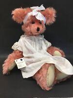 Artist Carla Kulka German Mohair Pink Teddy Bear Cotton Candy 1998 Crafted Bear
