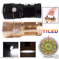 【SKYRAY】28000LM 11 x CREE XM-L T6 LED Hunting Flashlight 4 x 18650 Lamp Torch