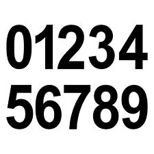 8cm schwarz Wunsch Wahl Aufkleber Tattoo Ziffer Zahl Nummer Haus Tür Spind Auto