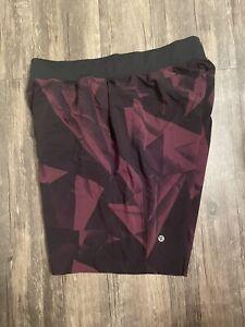 Lululemon Men's T.H.E. THE Shorts Large L Red Black Linerless