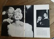 1954 Marilyn Monroe Director Billy Wilder Magazine photo pages clippings