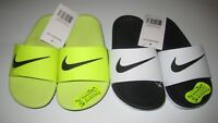 Nike Slides White-Black Kawa 11c-12c-1Y New NWT 819352