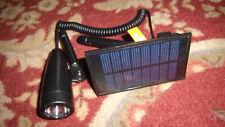 four Hampton Bay Solar Black Outdoor Integrated LED Landscape Flag Lights E3