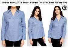 Women's Classic Collar Long Sleeve Sleeve Cotton Hip Length Tops & Shirts
