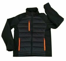Hi Vis Visibility BLACK Jacket Rain Patch Safety Work Warm SoftShell