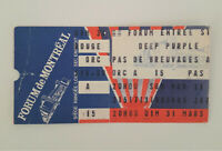 DEEP PURPLE 3/31/1985 Perfect Strangers Tour Concert Ticket Stub Montreal Hush!