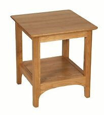 Oak Square Side & End Tables with Shelves