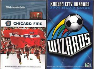 TWO 2004 PRO SOCCER Media Guides: Chicago Fire/KC Wizards