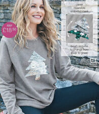 Ex Curve Clothing Plus Size Christmas Jumper Ladies Long Xmas Top 18 20 22 24