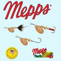 Mepps Aglia Copper Color Blade, Choice of Hook, Size / Weight, & Quantity