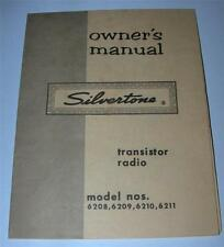 VINTAGE SILVERTONE TRANSISTOR RADIO MODEL 6208-6209-6210-6211 INSTRUCTION MANUAL